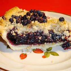 Blueberry/Raspberry Pie with Crumb Topping