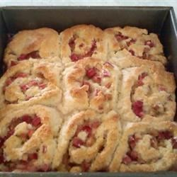 Rhubarb Cranberry Roll Ups Recipe