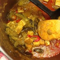 thai panang curry with baby eggplants and tofu printer friendly