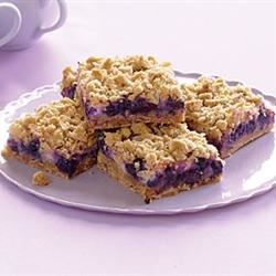 Blueberry Streusel Bars with Lemon Cream Filling