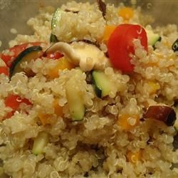 Quinoa with Chickpeas and Tomatoes