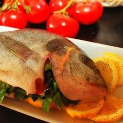 Italian Stuffed Sea Bass