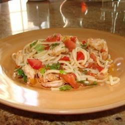 Photo of Spicy Garlic Sauteed Shrimp and Spaghetti by Amanda_Gayle