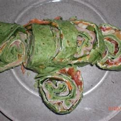Spinach snack wrap