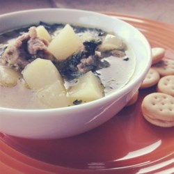 Allstar Potato, Spinach, and Sausage Soup