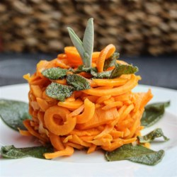Spiralized Brown Butter Sage Sweet Potato