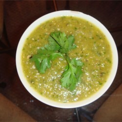 Roasted Tomatillo & Garlic Salsa