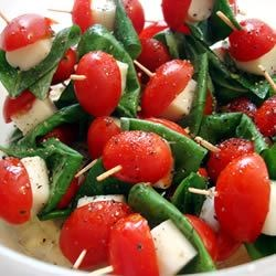Tomato and Mozzarella Bites