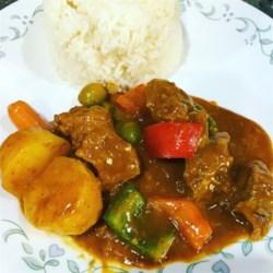 Filipino recipes allrecipes caldereta filipino beef and chorizo stew recipe caldereta is a comforting beef stew forumfinder Images