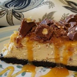 BUT...THIS...is what I absolutely LUST for! Yummy, gooey, rich Toblerone Cheesecake!
