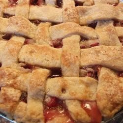 Fresh Rhubarb Pie