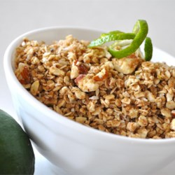 Honey-Lime Granola with Almonds Recipe