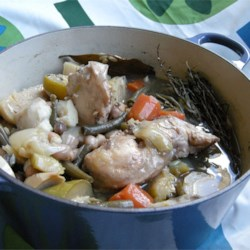 Chicken & Veg. in Dutch Oven