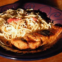 Calabrese Style Spaghetti with Wild Salmon Filet