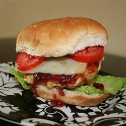 Grilled Turkey Burgers with Cranberry Horseradish Dressing Recipe