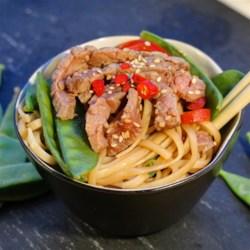asian steak and noodle bowl printer friendly