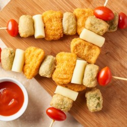 Chicken and Broccoli Tot Kabobs