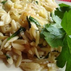 Photo of Caramelized Onion and Blue Cheese Orzo by Lindsay Perejma