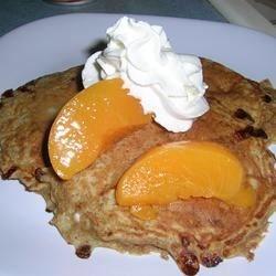 cinnamon peach cottage cheese pancakes photos