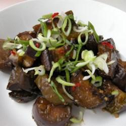 eggplant with garlic sauce printer friendly