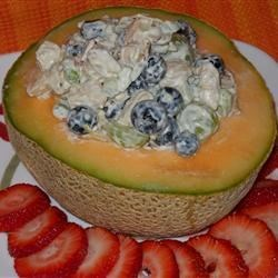 Gee-Gee's Chicken Salad with Cantaloupe