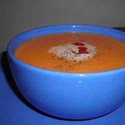 Roasted Red Pepper Soup (with jalapeño)