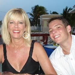 My son, Matthew, and me in Mexico