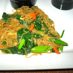 Jap Chae Korean Glass Noodles Recipe