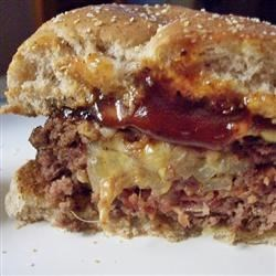 Easy Bacon, Onion and Cheese Stuffed Burgers Recipe