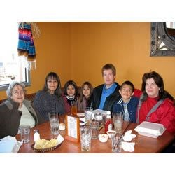 My family and me at one of our favorite resturants