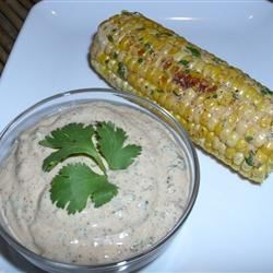 Sauteed Corn on the Cob With Chili-Lime-Cilantro Spread Recipe