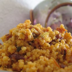 Roasted Pecan Couscous with Sun Dried Tomatoes and Mushrooms