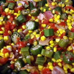 Okra, Corn and Tomatoes Recipe