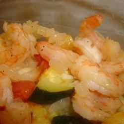 Shrimp with Penne and Squash Recipe