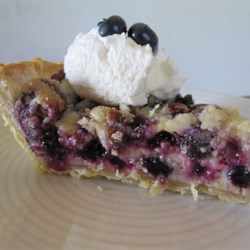 True Blue Custard Crunch Pie Recipe