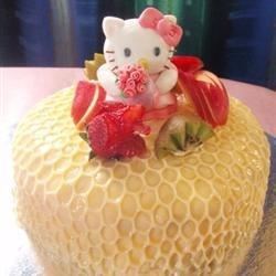 Hello Kitty Custard Pudding Cake