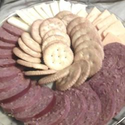 Cheese, Meat and Cracker Platter