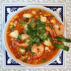 spicy tomato seafood and chorizo stew printer friendly