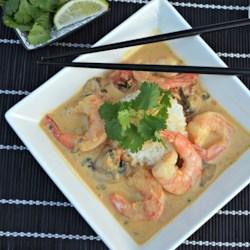 thai shrimp curry with a kick printer friendly