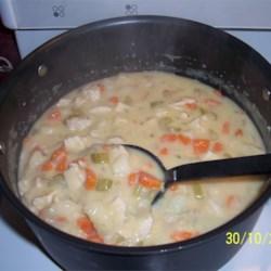 Creamy Vegetable Chowder (with chicken added)