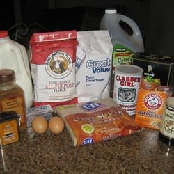 Doughnut Muffin Ingredients