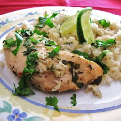 Slow Cooker Lime Chicken with Rice Recipe