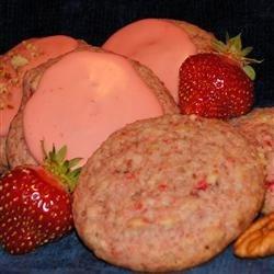 Fresh Strawberry Pecan Cookies