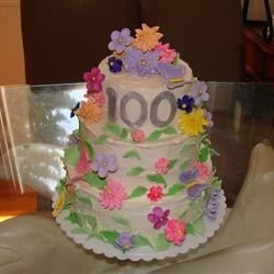 100th birthday cake I was commissioned to make