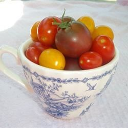 Beautiful grape/cherry tomatoes from the farmers market