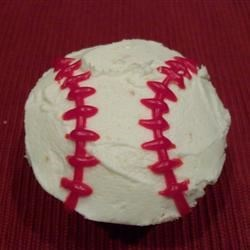 Joe's baseball cupcake