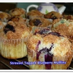 Streudel Topped Blueberry muffin