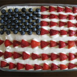 Red, White and Blue Strawberry Shortcake ~ All About The Yums
