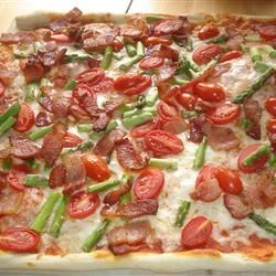 Bacon Asparagus Pizza