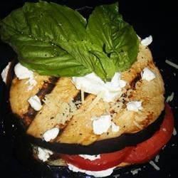 Grilled Eggplant, Tomato and Goat Cheese Recipe